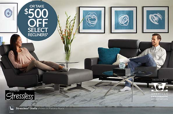 GET UP TO $1,500 STRESSLESS® CREDIT FOR MORE SEATING AND ACCESSORIES